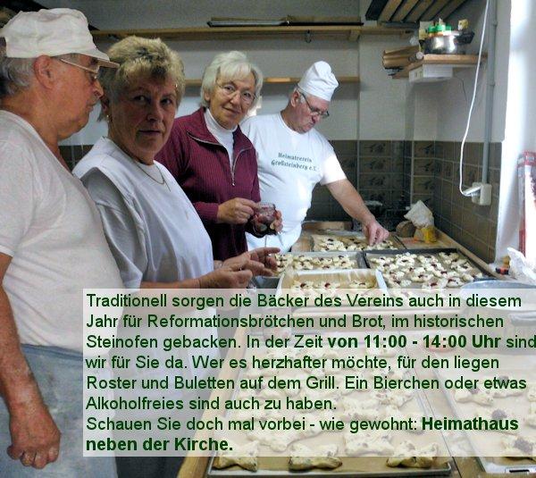 Reformationstag beim Großsteinberger Heimatverein